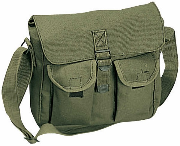 Rugged Canvas Ammo Shoulder Bag