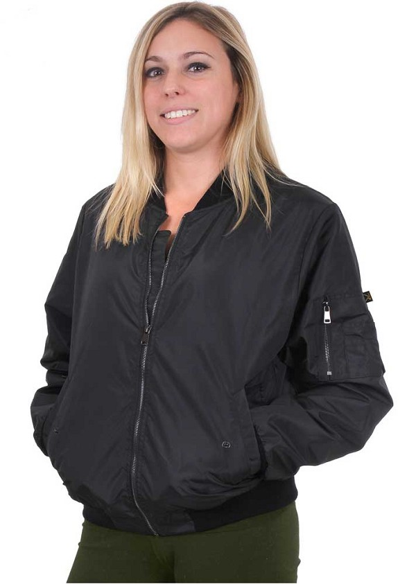 Rothco Womens Lightweight MA-1 Nylon Bomber Jacket