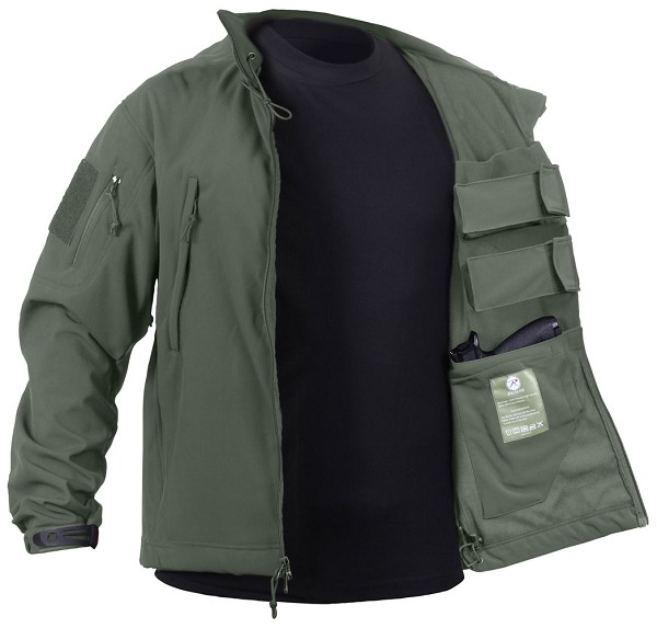 Rothco Mens Tactical Concealed Carry Soft Shell Jacket