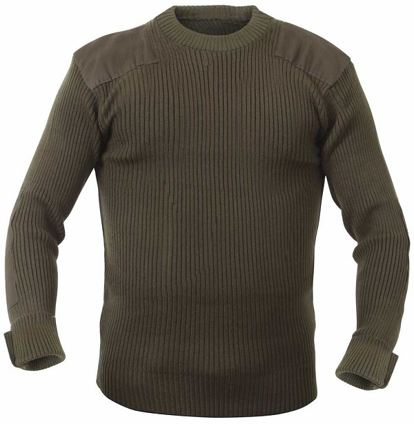 Rothco Mens Olive Military Commando Sweater