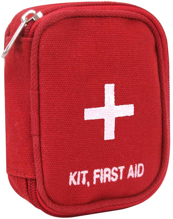 Red Military Zip First Aid Kit