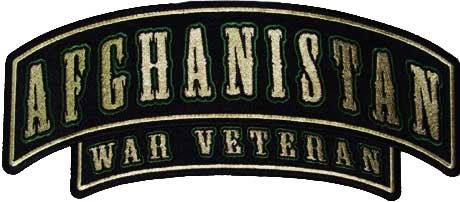 Afghanistan War Veteran Small Rocker Patch