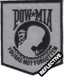 REFLECTIVE POW-MIA Patch