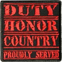 Duty Honor Country Patch