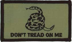 Don't Tread On Me Gadsden Flag Camo Patch