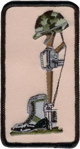 Helmet, Boot & Rifle Patch