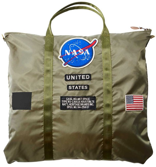 NASA Sage Green Helmet Bag