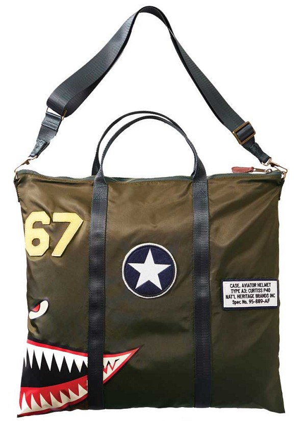 P-40  Flying Tigers Olive Helmet Bag
