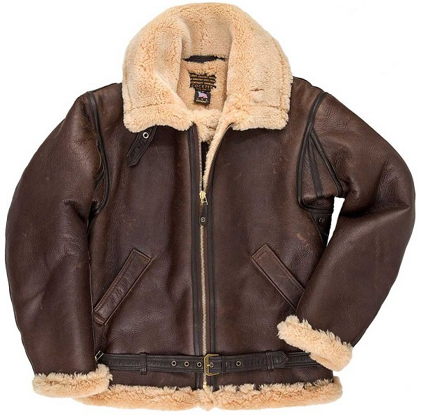 Cockpit Mens British R.A.F. Sheepskin Bomber Jacket