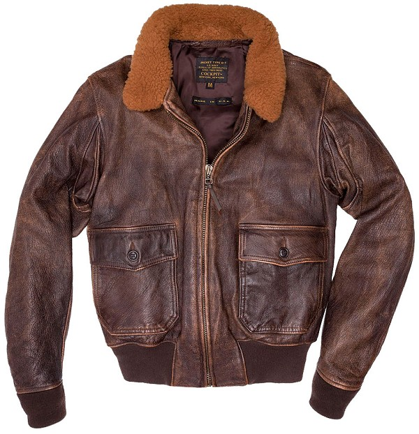 Cockpit Mens Avenger Vintage G-1 Leather Flight Jacket