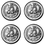 Military Spec Nickel Silver Eagle Anchor Coat Buttons 4 pk