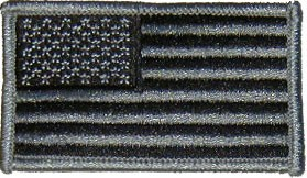 Grey Camouflage American Flag Uniform Patch