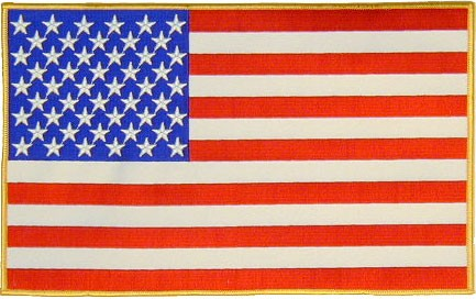 "11"" Large American Flag Embroidered Patch"