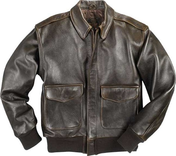Cockpit Mens 100 Mission A-2 Lambskin Leather Flight Jacket